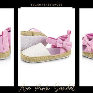 Ava Pink Baby Sandal Shoes - Sugar Tease